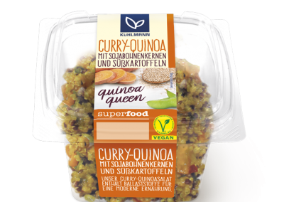 Curry & quinoa<br></noscript>with edamame<br>and sweet potatoes, 230 g