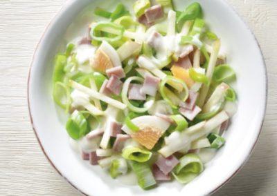 Lauch-Schinken-Salat