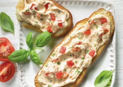 Pikante Tomaten-Basilikum-Creme