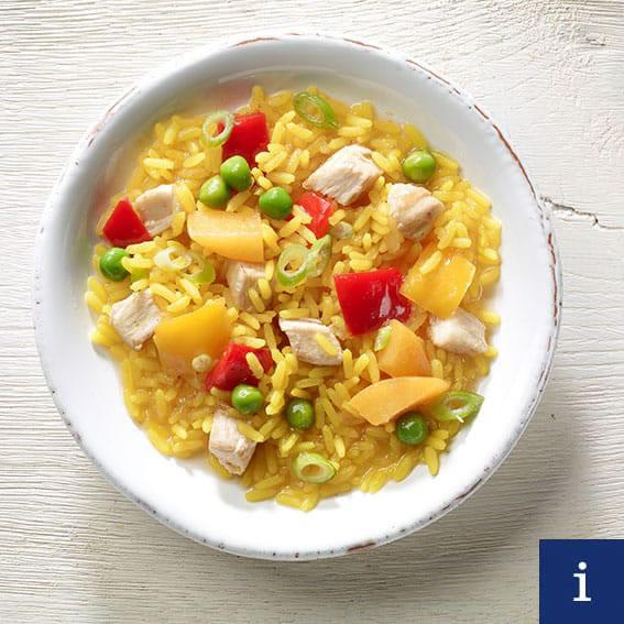Indischer Reissalat