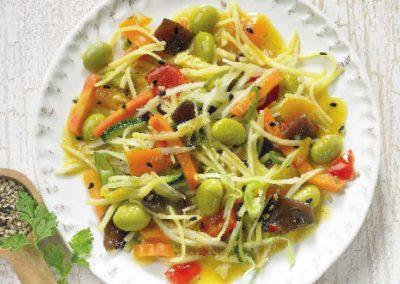 Wok noodle salad