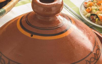 Schnelles Gemüse-Tajine mit Quinoa Hirse Salat