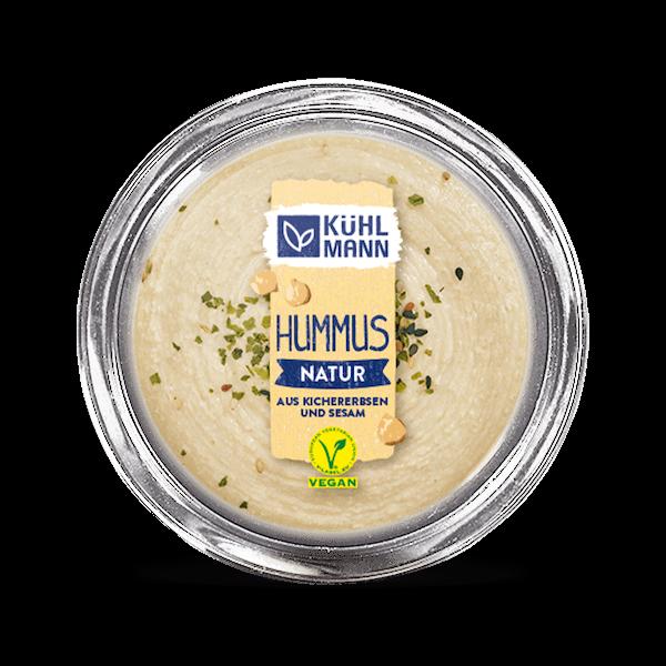 Kühlmann Hummus natur aus Kichererbsen und Sesam